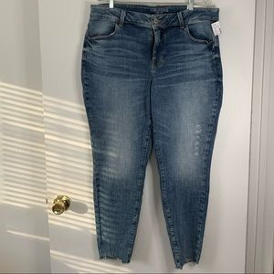 Maurices Cropped Distressed Jeans